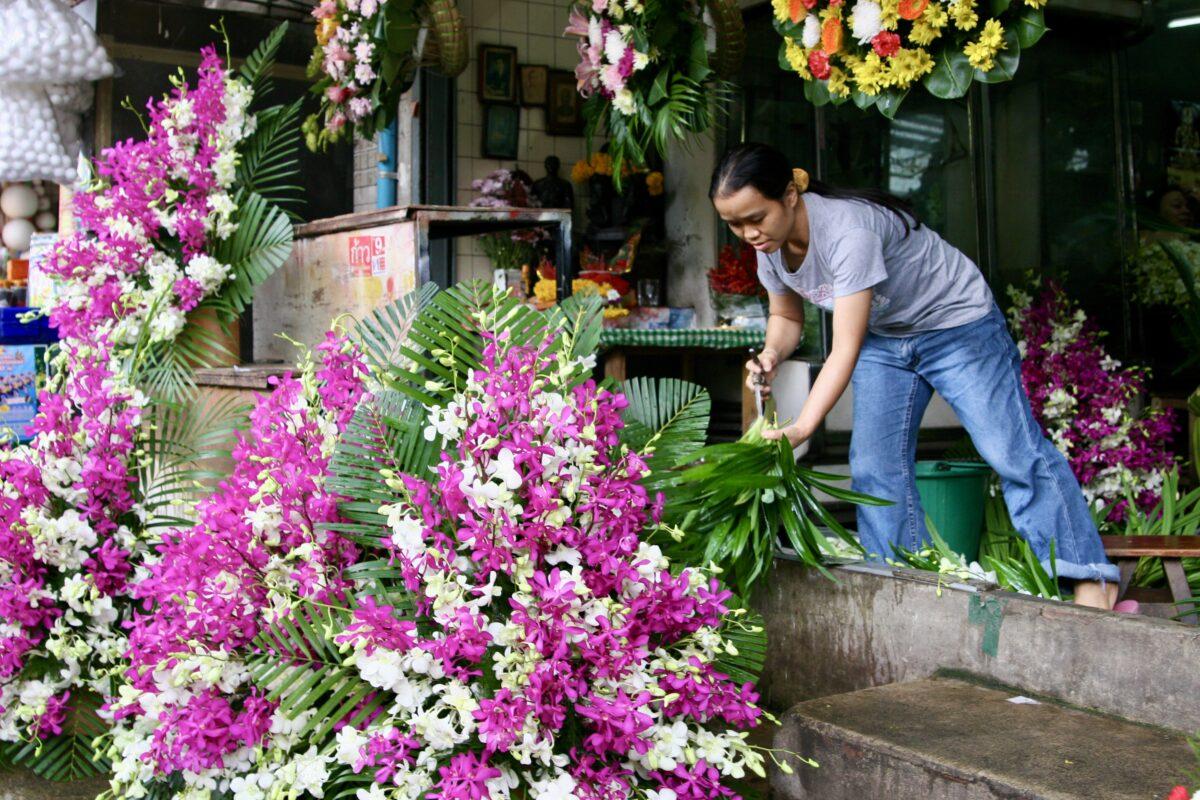 Vakna upp bland blommorna