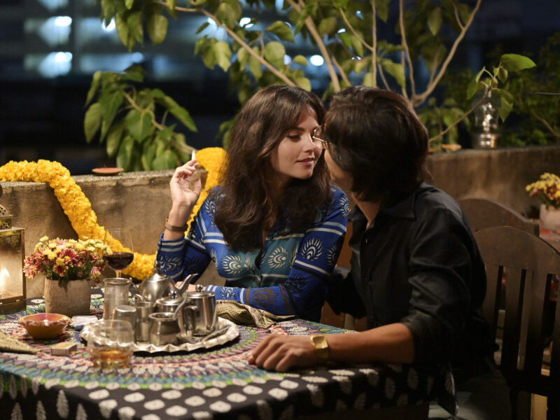 WARNING: Embargoed for publication until 00:00:01 on 12/01/2021 - Programme Name: The Serpent - TX: n/a - Episode: n/a (No. 4) - Picture Shows:  Monique/Marie-Andrée Leclerc (JENNA COLEMAN), Charles Sobhraj (TAHAR RAHIM) - (C) Mammoth Screen Ltd - Photographer: Roland Neveu