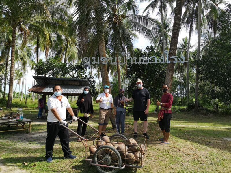 Använda hela kokosnöten